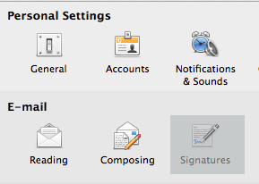 Add a new signature in Outlook 2011 for Mac