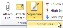 Add a new signature in Outlook 2010